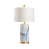 This item: Crawford White and Gold One-Light Table Lamp