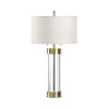 This item: Bolton Clear and Antique Brass Table Lamp