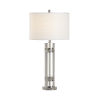 This item: Nichel Clear and Polished Nickel Table Lamp
