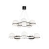 This item: Cobbs Court Black and White Double Tiered Chandelier