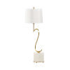This item: Swirl Natural White and Gold Table Lamp