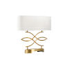 This item: Swirl Antique Brass Table Lamp