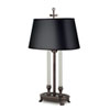This item: Antique Old Bronze One-Light Desk Lamp with Black Opaque Gold Foil Shade