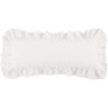 This item: Luna White 14 In. X 36 In. Ruffled Throw Pillow