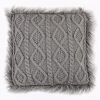 This item: Nordic Gray 18 In. X 18 In. Cable Kniw Throw Pillow