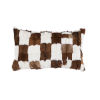This item: White and Brown 16 In. X 26 In. Patched Goat Hide Throw Pillow