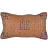 This item: Tan 20 In. X 12 In. Basket Weave Leather Throw Pillow