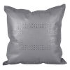 This item: Gray 20 In. X 20 In. Geometric Studded Leather Throw Pillow