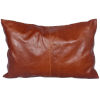 This item: Buckskin Brown 16 In. X 24 In. Leather Throw Pillow