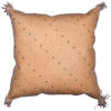 This item: Genuine Leather Tan 20 In. X 24 In. Studded Leather Throw Pillow with Tassel
