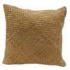 This item: Genuine Leather Butterscotch 20 In. X 20 In. Woven Suede Square Throw Pillow