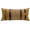 This item: Higland Lodge Herringbone 12 x 26 In. Throw Pillow with Faux Leather Stripes