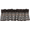This item: Tucson Taupe and Chocolate 84 x 18-Inch Valance
