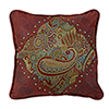 This item: San Angelo Paisley 18 x 18 In. Throw Pillow with Red Faux Leather