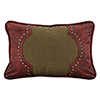 This item: San Angelo Tan and Red Faux Leather 12 x 18 In. Throw Pillow