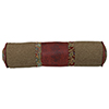 This item: San Angelo Tan and Red Faux Leather 7 x 26 In. Neck Roll