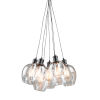 This item: Clearwater Semi Gloss Black Seven-Light Chandelier