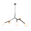 This item: Ravello Black and Harvest Brass Five-Light Pendant
