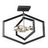 This item: Preston Semi Matte Black and Brushed Nickel Three-Light Semi-Flush Mount