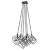 This item: Artistry Matte Black and Harvest Brass 28-Inch Six-Light Geometric Chandelier