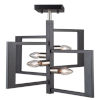 This item: Sutherland Black and Brushed Nickel 18-Inch Four-Light Semi-Flush Mount