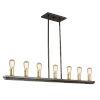 This item: Sandalwood Satin Brass 14-Inch Seven-Light Island Pendant