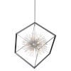 This item: Sunburst Matte Black and Chrome 12-Light Chandelier