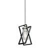 This item: Vissini Matte Black and Polished Nickel One-Light Mini Pendant