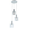 This item: Henley Brushed Aluminum and Clear Glass Three-Light Pendant