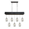 This item: Willow Distressd Pine Seven-Light Island Pendant