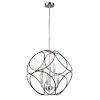 This item: Sorrento Matte Black and Satin Nickel Six-Light Chandelier