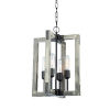 This item: Gatehouse Beach Wood and Black Four-Light Chandelier