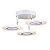 This item: Phoenix White Three-Light LED Semi Flushmount