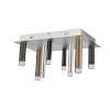 This item: Galiano Black, Copper and Satin Aluminum Eight-Light LED Flush Mount