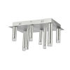 This item: Galiano Satin Aluminum Eight-Light LED Flush Mount