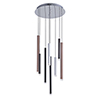 This item: Galiano Black, Copper and Satin Aluminum Eight-Light LED Chandelier