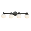 This item: Tilbury Semi Gloss Black Four-Light LED Wall Sconce