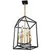 This item: Twilight Matte Black and Harvest Brass Eight-Light Chandelier