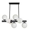 This item: Moonglow Matte Black 16-Inch Seven-Light Chandelier