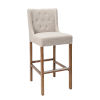 This item: Karla French Beige and Natural Brown Bar Stool