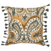 This item: Lia Yellow Charcoal and Natural Throw Pillow
