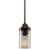 This item: Melno Park Dark Chocolate One-Light 3.5-Inch Wide Mini Pendant