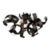 This item: Bel Air Black Four-Light Flush Mount