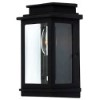 This item: Fremont Black One-Light 5-Inch Wide Outdoor Wall Sconce with Clear Three Side Glass