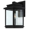 This item: Fremont Black One-Light 9-Inch Wide Outdoor Wall Sconce with Clear Three Side Glass