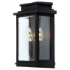 This item: Fremont Black Two-Light 13.5-Inch High Outdoor Wall Sconce