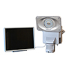 This item: White Motion-Activated Solar Security Camera and Floodlight