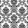 This item: Document Damask Black and White Wallpaper
