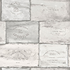 This item: Grey and Ivory Wine Crates Wallpaper - SAMPLE SWATCH ONLY