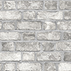 This item: Farmhouse Brick Grey Wallpaper